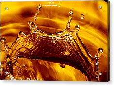 Drop Of Gold Acrylic Print