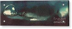 Acrylic Print featuring the painting Drop Of Water by Annemeet Hasidi- van der Leij