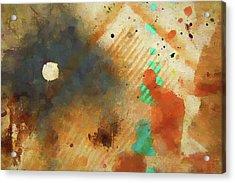 Dropcloth Moon Acrylic Print