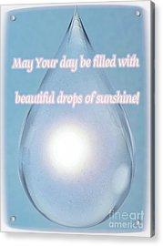 Drops Of Sunshine Acrylic Print