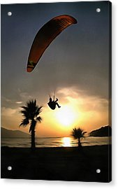 Dropzone At Dusk Acrylic Print