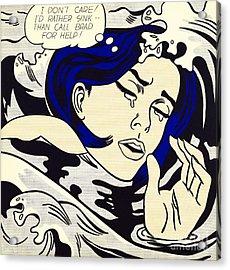Drowning Girl Acrylic Print