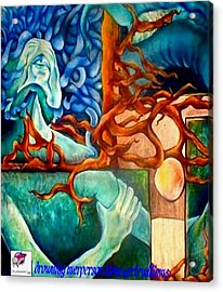 Acrylic Print featuring the painting Drowning Merperson by Carol Rashawnna Williams