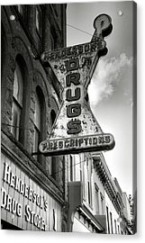 Drug Store Sign Acrylic Print