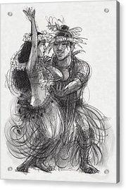 Drum Dance Pas-de-deux Acrylic Print by Judith Kunzle