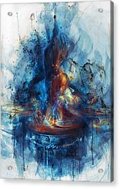 Acrylic Print featuring the digital art Drum by Te Hu