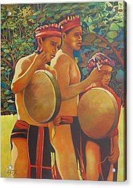 Drumbeat Of The Kalinago Acrylic Print