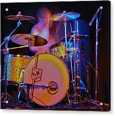 Drummer Boy Acrylic Print by Joy Bradley
