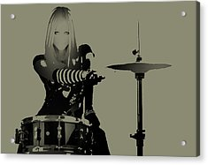 Drummer Acrylic Print by Naxart Studio