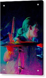 Drummer  Acrylic Print by Tommy Simpson