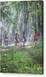 Drums In The Forest Before The Battle Acrylic Print by Randy Steele
