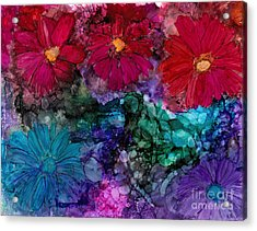 Drunken Flowers Acrylic Print