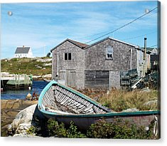 Dry Dock At Peggy's Cove Acrylic Print by Richard Mansfield