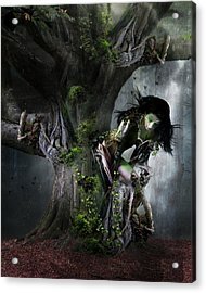 Dryad's Dance Acrylic Print by Mary Hood