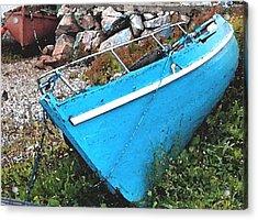 Drydock Boat Acrylic Print by Eul Hurley