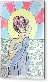 Drying Off From A Swim Acrylic Print by Loretta Nash
