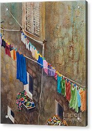 Drying Time Acrylic Print