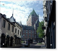 Acrylic Print featuring the photograph du Fort Chateau Frontenac by John Schneider