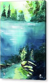 Acrylic Print featuring the painting Duality by Anil Nene