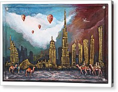 Dubai-city Of Gold Acrylic Print