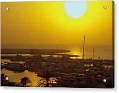 Dubai Marina Jumeirah Sunset Acrylic Print by Iain MacVinish