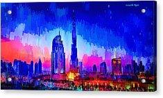Dubai Skyline 100 - Pa Acrylic Print