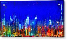 Dubai Skyline 50 - Da Acrylic Print