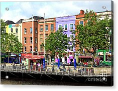 Dublin Building Colors Acrylic Print by John Rizzuto