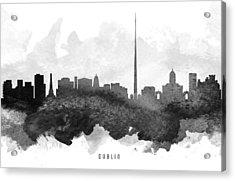 Dublin Cityscape 11 Acrylic Print by Aged Pixel
