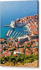 Dubrovnik From Above Acrylic Print by Artur Bogacki