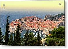 Dubrovnik Old City On The Adriatic Sea, South Dalmatia Region, C Acrylic Print