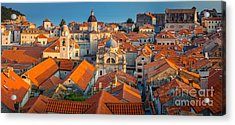 Dubrovnik Panorama Acrylic Print by Inge Johnsson
