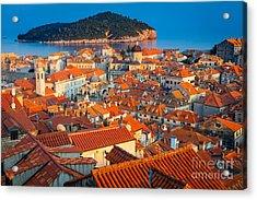 Dubrovnik Rooftops Acrylic Print