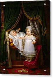 Duc De Bordeaux In His Cradle  Acrylic Print