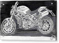 Ducati Acrylic Print by Cathy Jourdan