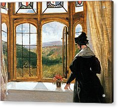 Duchess Of Abercorn Looking Out Of A Window Acrylic Print by Sir Edwin Landseer