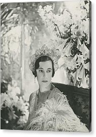 Duchess Of Westminster Acrylic Print by Cecil Beaton