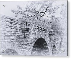 Duck Brook Bridge In Black And White Acrylic Print