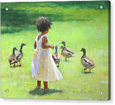 Duck Chase Acrylic Print
