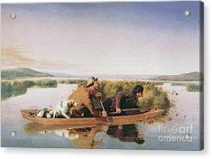 Duck Hunters On The Hoboken Marshes, New Jersey, 1849 Acrylic Print