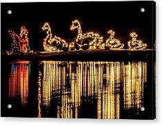 Duck Pond Christmas Acrylic Print