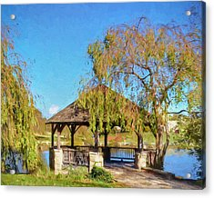 Duck Pond Gazebo At Virginia Tech Acrylic Print