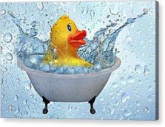 Duck Rubber Acrylic Print