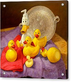 Acrylic Print featuring the painting Duck Soap by Donelli  DiMaria