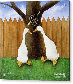 Ducky In Love... Acrylic Print by Will Bullas