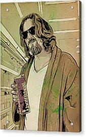Dude Lebowski Acrylic Print by Giuseppe Cristiano