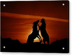 Duel At Sundown Acrylic Print