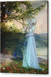 Duet Acrylic Print by Mary Hood