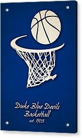Duke Blue Devils Basketball Acrylic Print