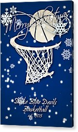 Duke Blue Devils Christmas Card 2 Acrylic Print by Joe Hamilton